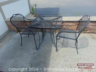 Metal patio set