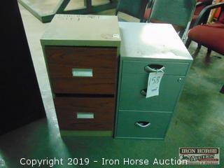 (2) Two Drawer File Cabinets