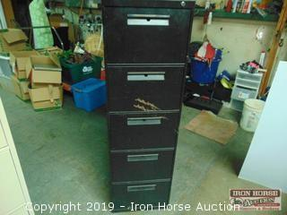 Five Drawer File Cabinet