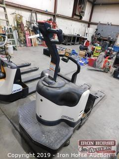 Crown Walkie Rider Electric Pallet Truck