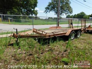"1999 Hudson Bumper Hitch 14' w/ 24"" Dovetail Trailer"