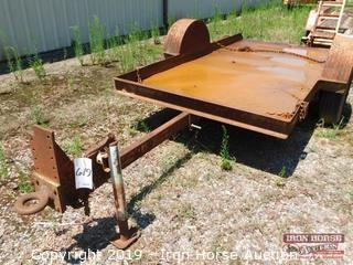 1983 10' Butler Single Axle Pintle Hitch Trailer