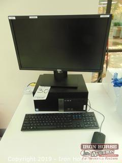 Dell OpitPlex 3040 Desktop Computer with Monitor, Keyboard, & Mouse