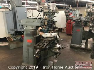 Bridgeport J Series Vertical Mill with Rotary Table