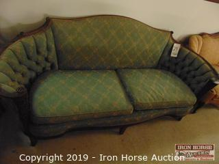 Green Fabric Sofa