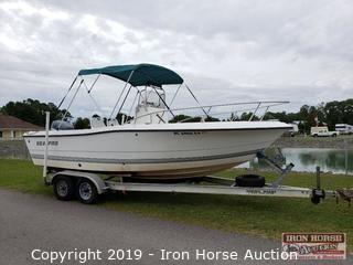 2002 Sea Pro 210 Center Console Boat