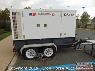 MTU DS175 Detroit Diesel Portable Generator  -  Hours showing = 333, John Deere 8.1 Liter Diesel Engine