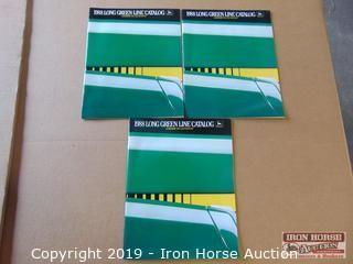 Three 1988 Long Green Line John Deere Catalogs