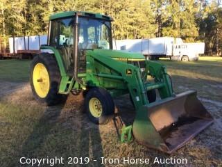 1997 John Deere 6400 Tractor with 620 Loader