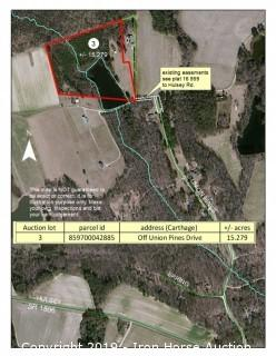 15.66+/- Acres Located at off Union Pines Drive in Carthage, NC