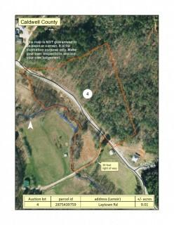 9.01+/- Acres Located on Laytown Road in Caldwell County