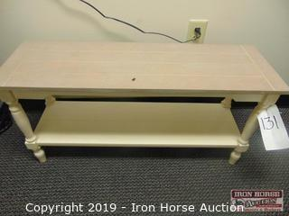 Two Shelf Wooden Table/Bench