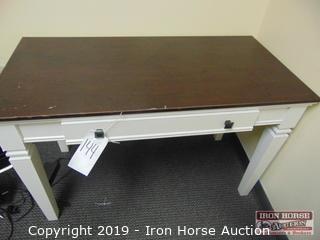 (2) Wooden One Drawer Desk