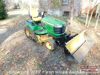 """2014 John Deere X758 Diesel Garden Tractor w/ 54"""" Tractor Shovel"""