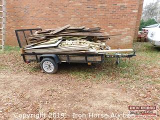 2010 CARR Single Axle 8' x 5' Utility Trailer