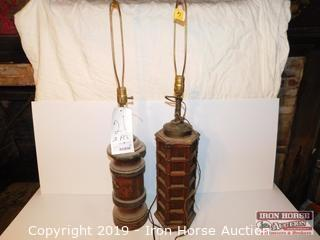Two Knob Creek Wooden Lamps