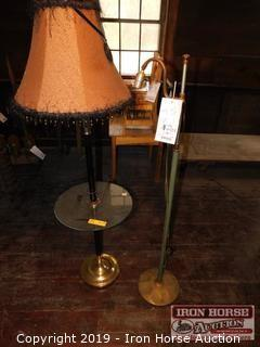 "Two 46"" Tall Floor Lamps"