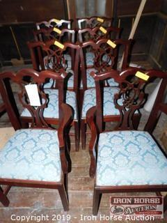 (8) Cherry Finish Dining Chairs