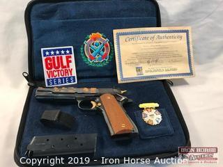 Springfield Armory Model 1911-A1 .45 Auto Gulf Victory Series