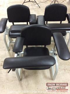 (3) Phlebotomy Single Seat Chairs (3XMONEY)