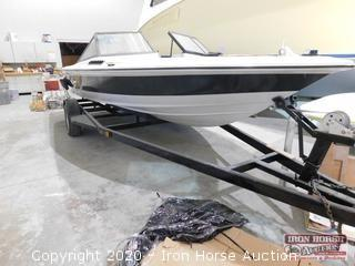 1984 20' Dixie Inboard Super Skier Boat and Sgl. Axle Trailer