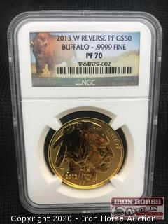 2013 W Reverse PF G$50 Gold Coin