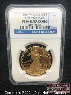 2014 W Eagle G$50 Early Releases Gold Coin