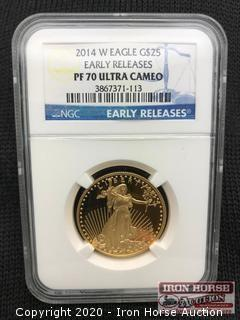 2014 W Eagle G$25 Early Releases Gold Coin