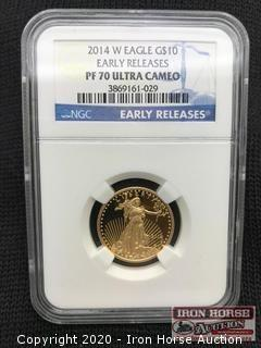 2014 W Eagle G$10 Early Releases Gold Coin