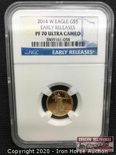 2014 W Eagle G$5 Early Releases Gold Coin