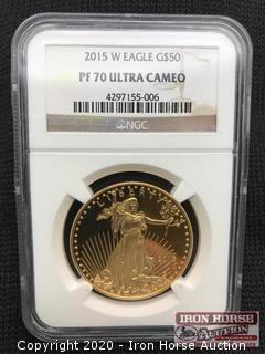 2015 W Eagle G$50 Gold Coin