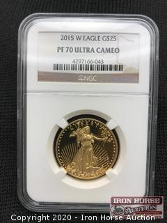 2015 W Eagle G$25 Gold Coin