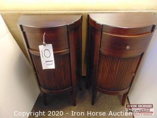 (2) Tambour Door Cabinets with Single Drawer (2XMONEY)