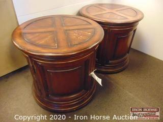 (2) Round End Tables (2XMONEY)