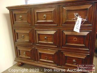 Mahogany Finished Three Drawer Chest