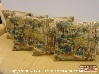 Four Upholstered Pillow