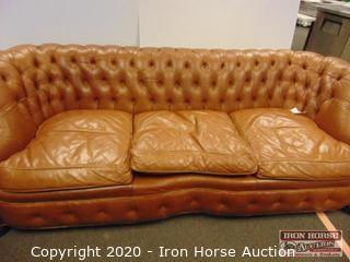 Tuffed Leather Sofa
