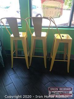 (3) Metal Bar Stools