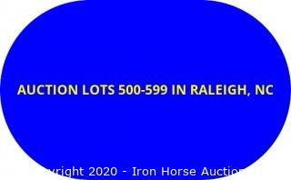 AUCTION LOTS 500-599 LOCATED IN RALEIGH