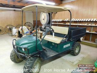 EZGO Workhouse Gas Golf cart w/ Power Dump Bed  -  Serial:  1418254, Bench seat, Has transmission or rear end issues, K301