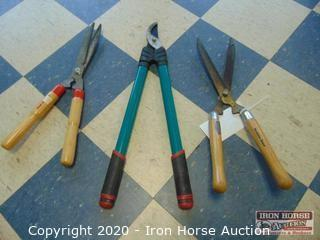 Two Hegde Trimmers and Loppin Shears
