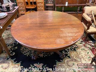 Round Clawfoot Dinner Table on Casters