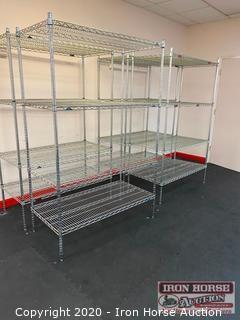 (4) Eagle Metal Shelving