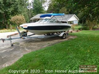 1996 SeaRay 190 with Single Axle Trailer