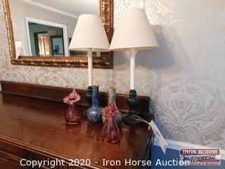 Grouping of Lamps and Vases