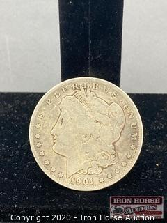 1901 Morgan Silver Dollar Mint Mark O