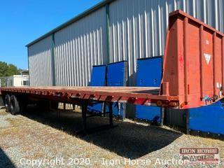 1985 Ferree 40 foot Expandable Flatbed Trailer