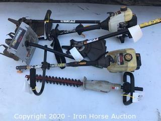 Ryobi weed eater and attachments