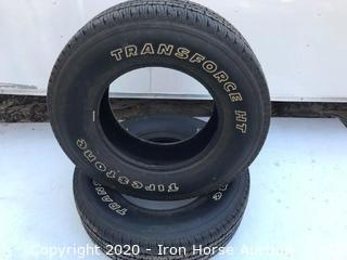 (2) Firestone Transforce HT Tires LT-265/70R-17