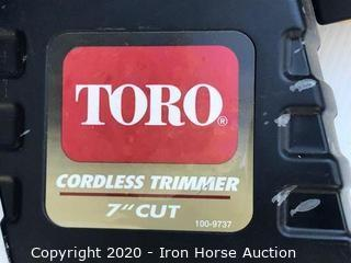 TORO 7 inch cordless trimmer
